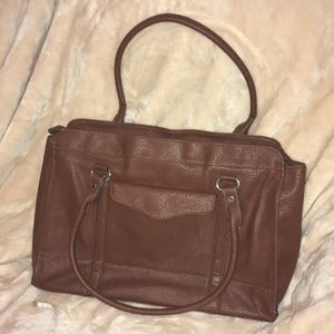 Brown pebbled leather Merona laptop tote